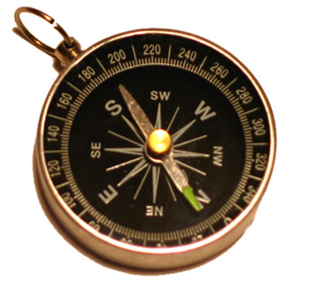 Click the Compass, then type your home address or your zip code, and press