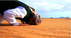 A person is performing Prayer.