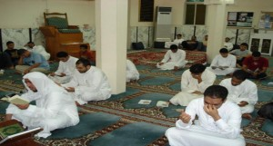 Spiritual retreat in the masjid