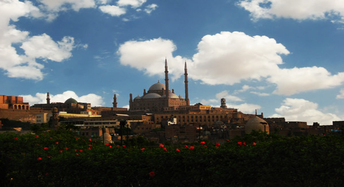 Mohamed Ali's mosque in old Cairo, Egypt.