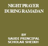 Night Prayer During Ramadan
