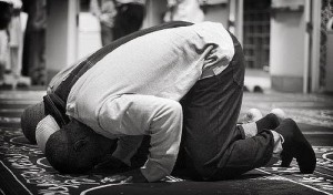 Some Muslims offer prayer in congregation.