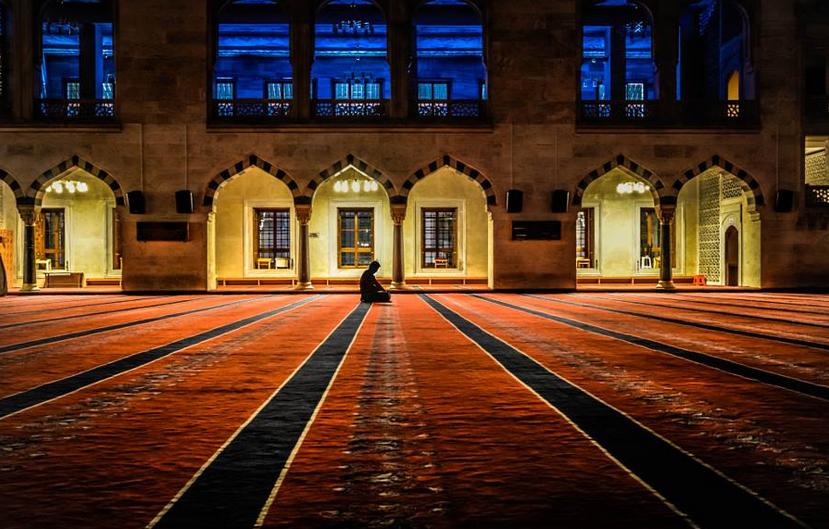 A Muslim offers prayer at a mosque - All About Fajr Prayer