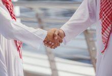 shaking hands after prayer