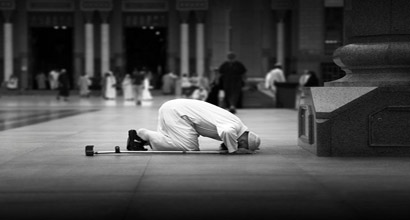 Prostration during the prayer.