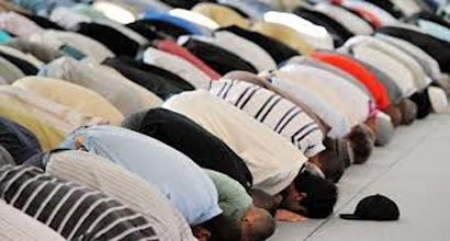Some people Performing a prayer