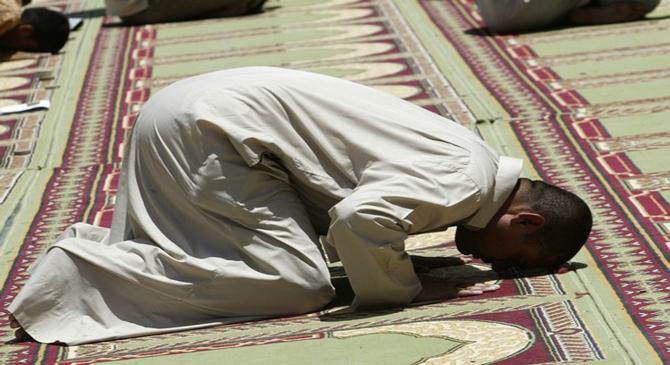 Someone is offering prayer