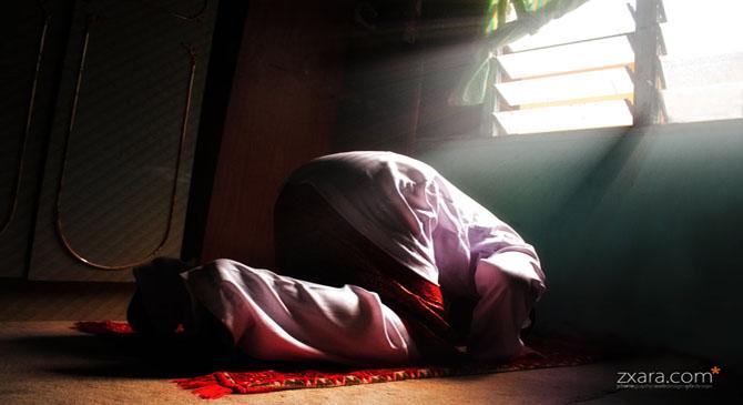 someone is offering prayer.