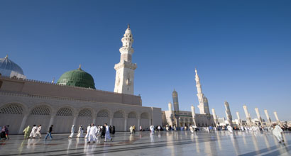 The Prophet's Mosque in Madinah.